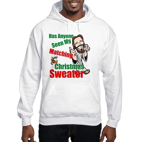 Matching Christmas Sweater Hooded Sweatshirt