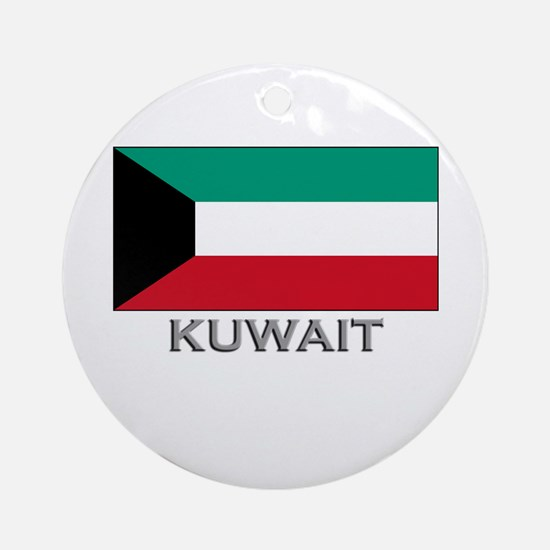 Kuwait Flag Stuff Ornament (Round)