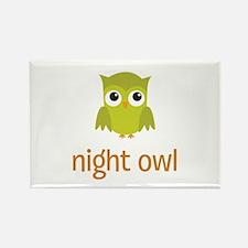 Night Owl Rectangle Magnet
