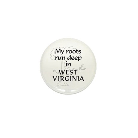 West Virginia Roots Mini Button (10 pack)