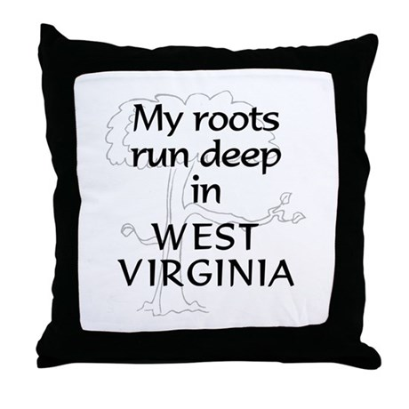 West Virginia Roots Throw Pillow