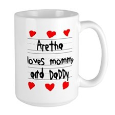 Aretha Loves Mommy and Daddy Ceramic Mugs