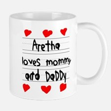 Aretha Loves Mommy and Daddy Mug