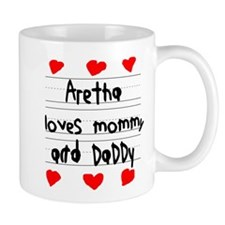 Aretha Loves Mommy and Daddy Small Mugs