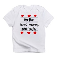 Aretha Loves Mommy and Daddy Infant T-Shirt