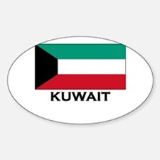Kuwait Flag Gear Oval Decal