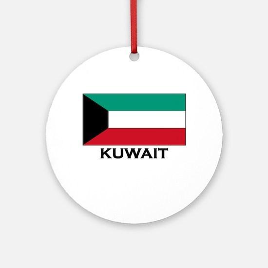 Kuwait Flag Gear Ornament (Round)