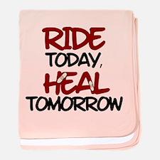 'Heal Tomorrow' baby blanket