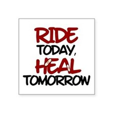 "'Heal Tomorrow' Square Sticker 3"" x 3"""