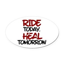 'Heal Tomorrow' Oval Car Magnet