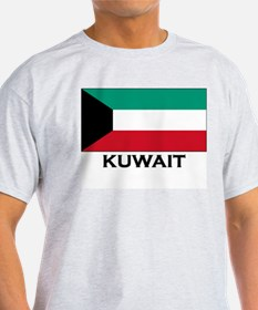 Kuwait Flag Gear Ash Grey T-Shirt