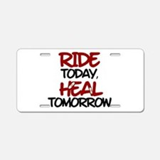 'Heal Tomorrow' Aluminum License Plate