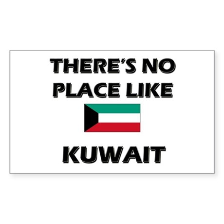 There Is No Place Like Kuwait Sticker (Rectangular