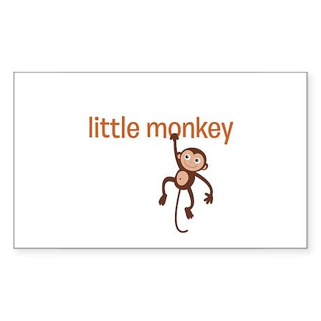 Little Monkey Sticker (Rectangle)