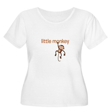 Little Monkey Women's Plus Size Scoop Neck T-Shirt