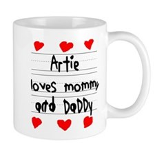 Artie Loves Mommy and Daddy Mug