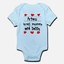 Arturo Loves Mommy and Daddy Infant Bodysuit