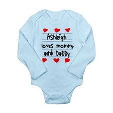 Ashleigh Loves Mommy and Daddy Onesie Romper Suit