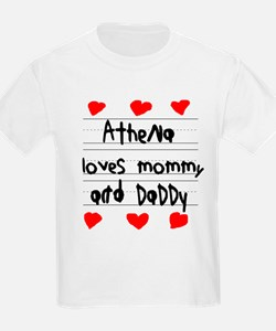 Athena Loves Mommy and Daddy T-Shirt