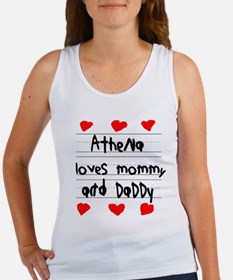 Athena Loves Mommy and Daddy Women's Tank Top