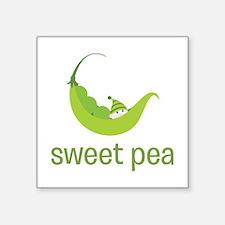 "Sweet Pea Square Sticker 3"" x 3"""