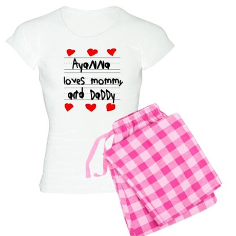 Ayanna Loves Mommy and Daddy Women's Light Pajamas