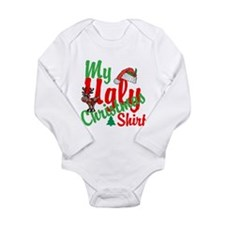 Ugly Christmas Shirt Long Sleeve Infant Bodysuit