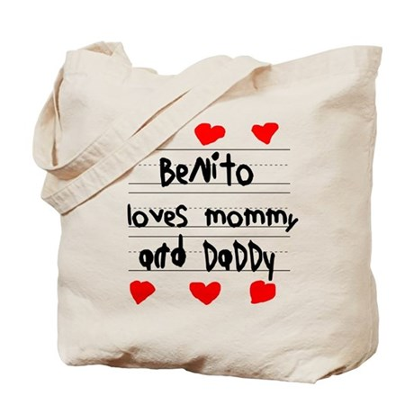 Benito Loves Mommy and Daddy Tote Bag