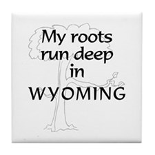 Wyoming Roots Tile Coaster