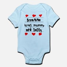 Breanna Loves Mommy and Daddy Infant Bodysuit