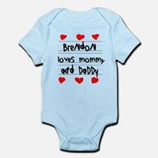 Brendon Loves Mommy and Daddy Infant Bodysuit