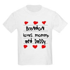 Brendon Loves Mommy and Daddy T-Shirt