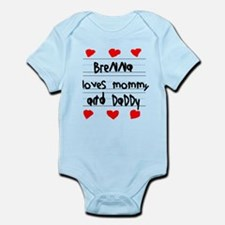 Brenna Loves Mommy and Daddy Infant Bodysuit