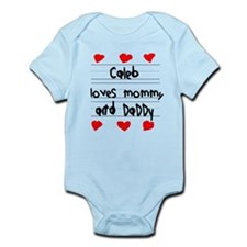 Caleb Loves Mommy and Daddy Infant Bodysuit