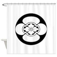 Mokko in rice cake Shower Curtain