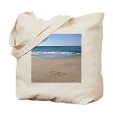 Hearts on the Beach Tote Bag