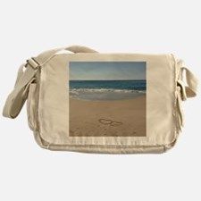 Hearts on the Beach Messenger Bag