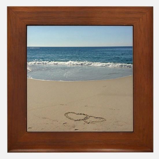 Hearts on the Beach Framed Tile