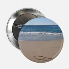 "Hearts on the Beach 2.25"" Button"