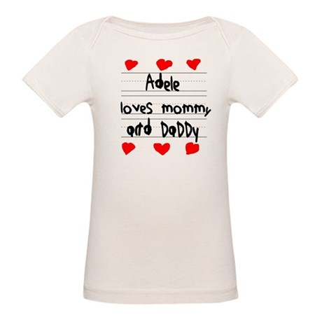 Adele Loves Mommy and Daddy Organic Baby T-Shirt