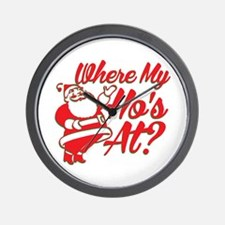 Where My Ho's At? Funny Christmas Funny Gift Wall