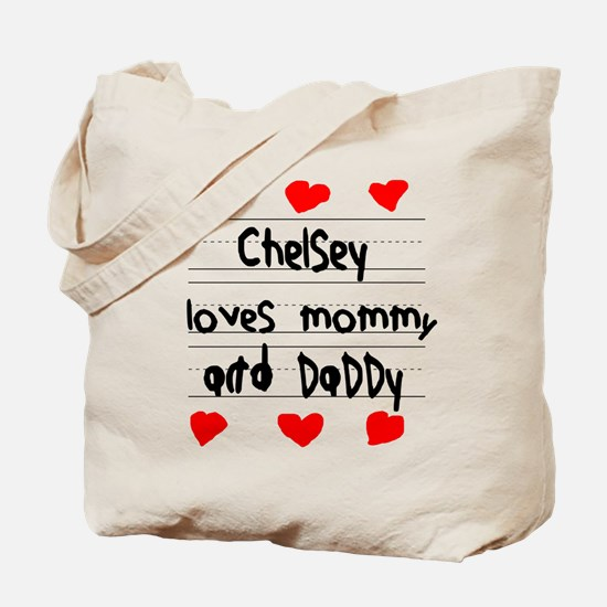 Chelsey Loves Mommy and Daddy Tote Bag