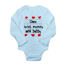 Clare Loves Mommy and Daddy Long Sleeve Infant Bod