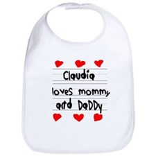 Claudia Loves Mommy and Daddy Bib
