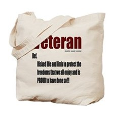 Veteran Definition Tote Bag
