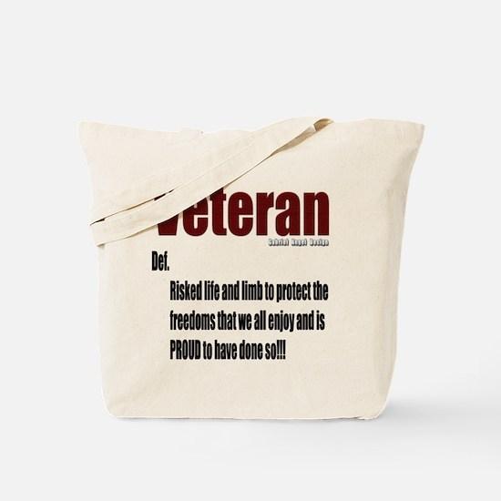 Veteran Definition Tote Bag