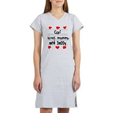 Cori Loves Mommy and Daddy Women's Nightshirt