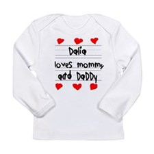 Dalia Loves Mommy and Daddy Long Sleeve Infant T-S