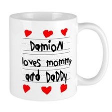 Damion Loves Mommy and Daddy Small Mug