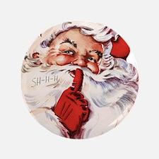 "Vintage Santa 3.5"" Button"